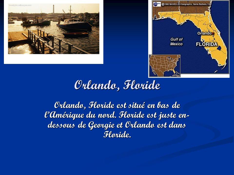 Orlando, Floride Orlando, Floride est situé en bas de l'Amérique du nord.