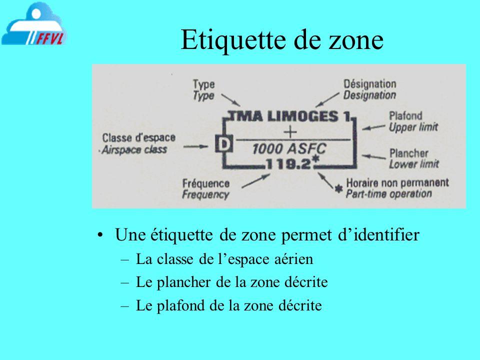 Etiquette de zone Une étiquette de zone permet d'identifier