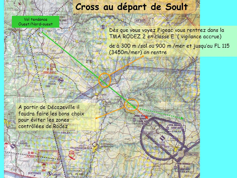 Vol tendance Ouest/Nord-ouest