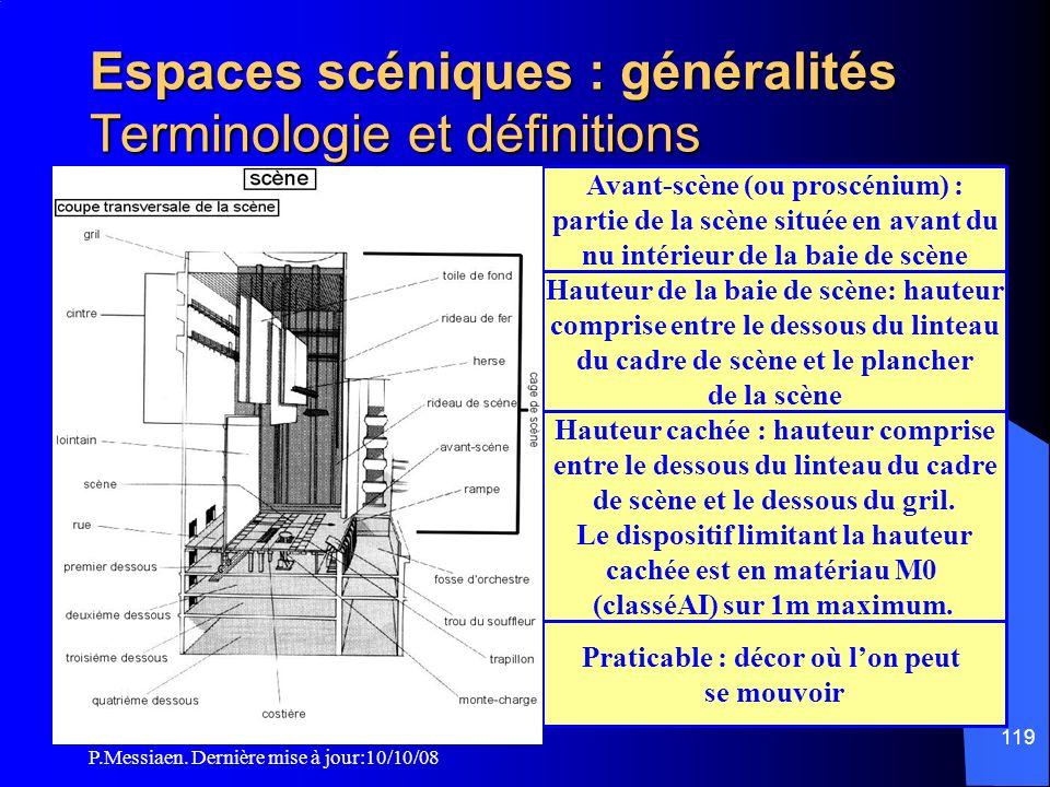 Espaces scéniques : généralités Terminologie et définitions