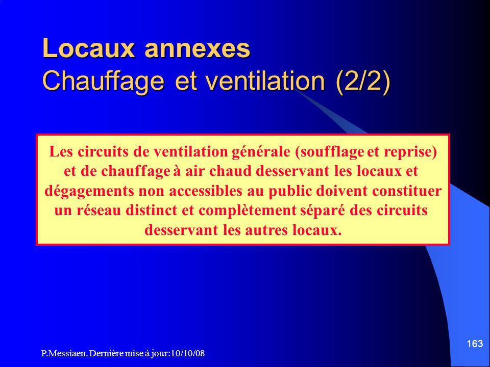 Locaux annexes Chauffage et ventilation (2/2)