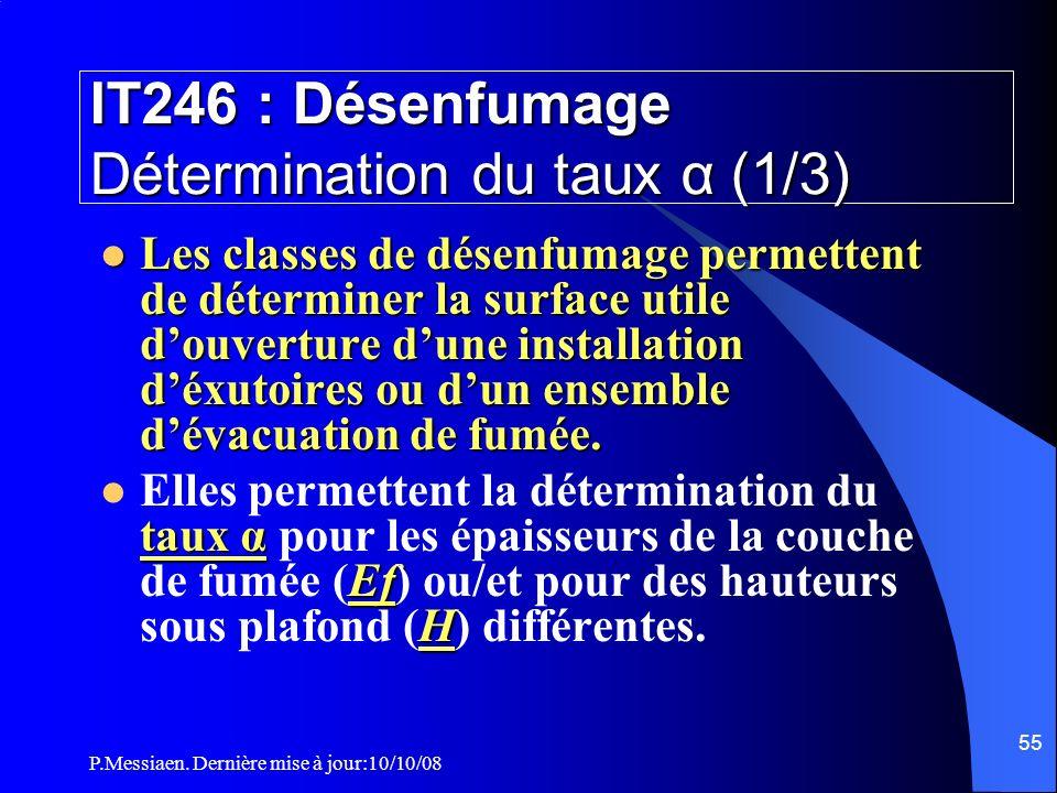 IT246 : Désenfumage Détermination du taux α (1/3)