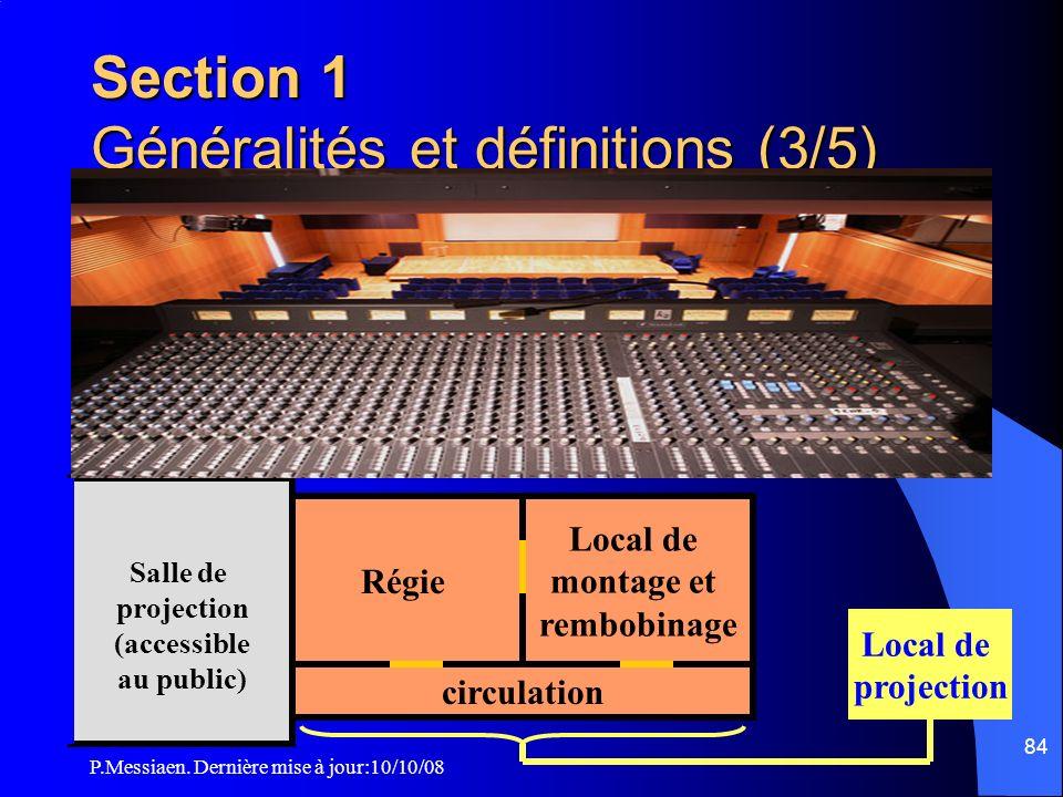 Section 1 Généralités et définitions (3/5)