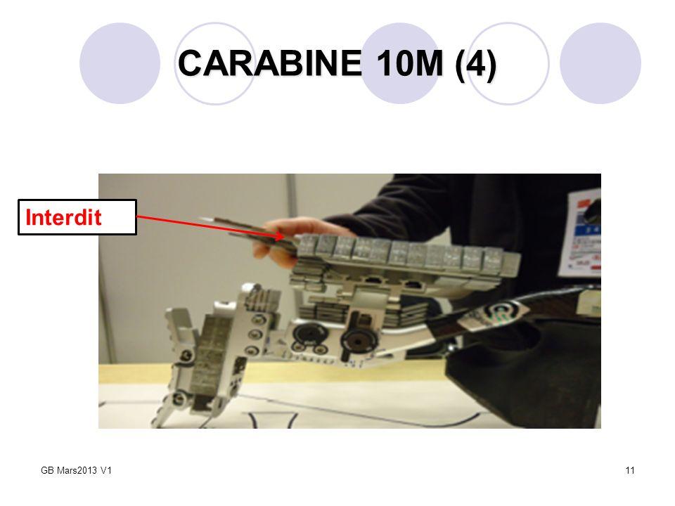 CARABINE 10M (4) Interdit GB Mars2013 V1 5 Février 2009
