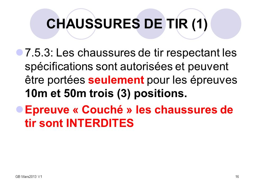 CHAUSSURES DE TIR (1)