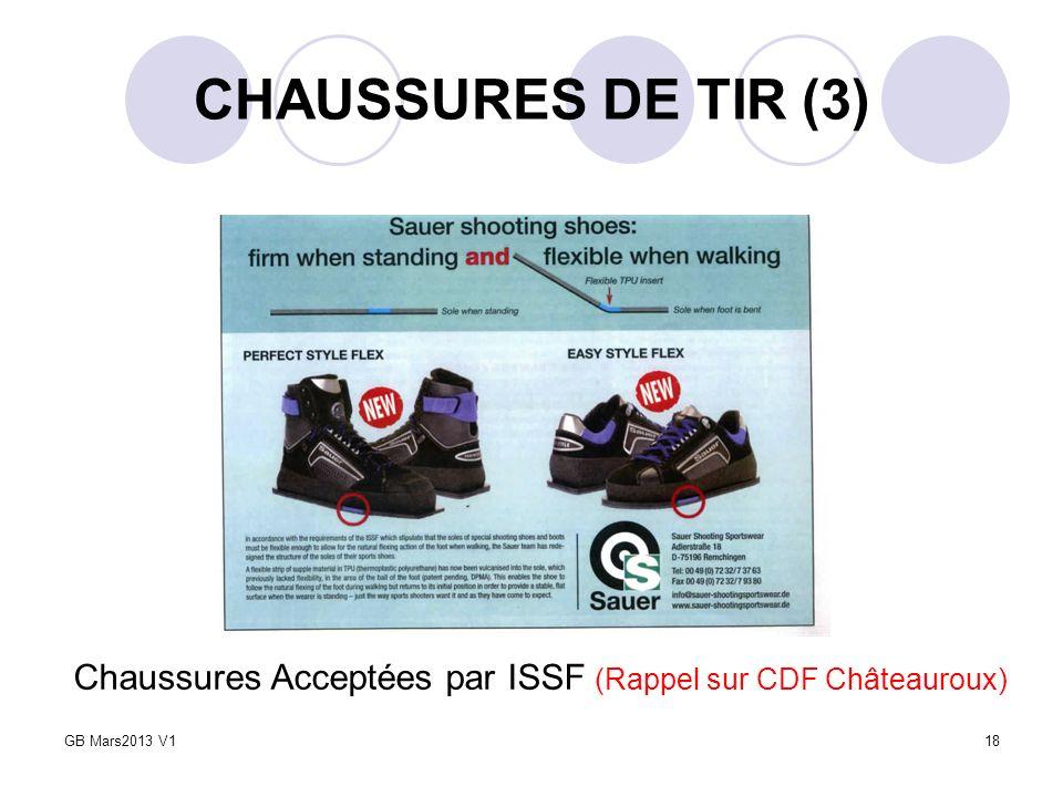CHAUSSURES DE TIR (3) Chaussures Acceptées par ISSF (Rappel sur CDF Châteauroux) GB Mars2013 V1