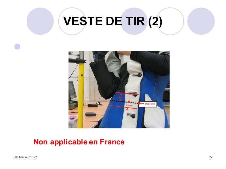 VESTE DE TIR (2) Non applicable en France GB Mars2013 V1