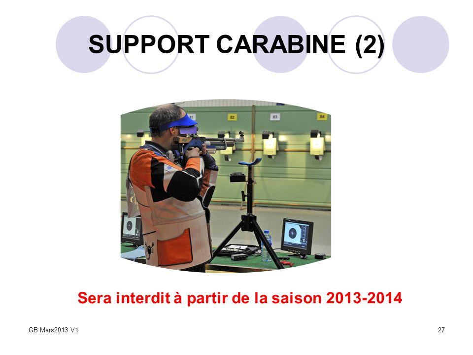 SUPPORT CARABINE (2) Sera interdit à partir de la saison 2013-2014