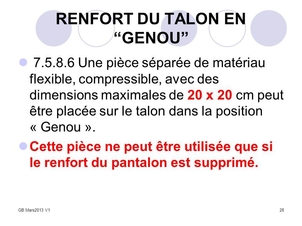 RENFORT DU TALON EN GENOU