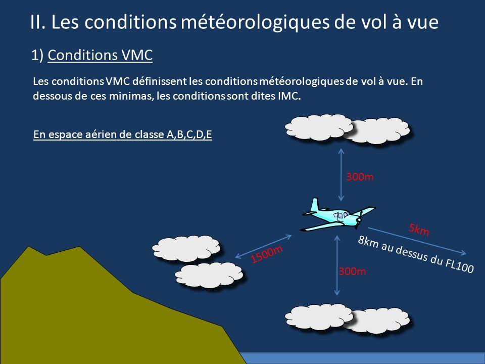 II. Les conditions météorologiques de vol à vue