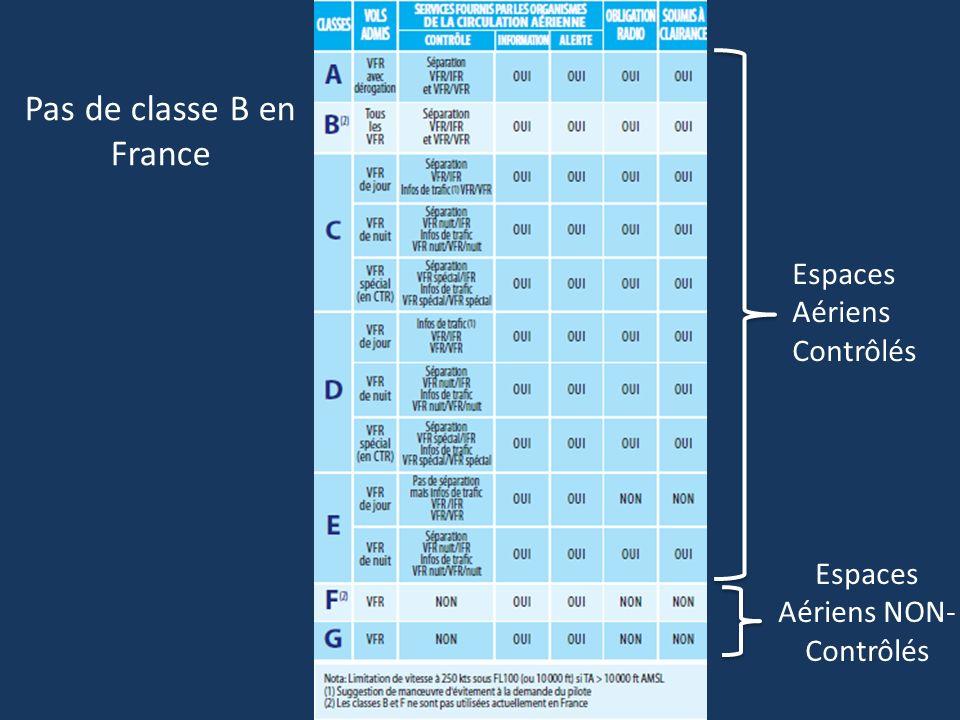 Pas de classe B en France