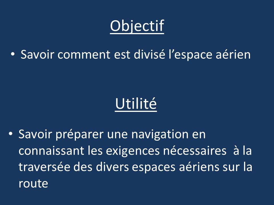 Objectif Utilité Savoir comment est divisé l'espace aérien