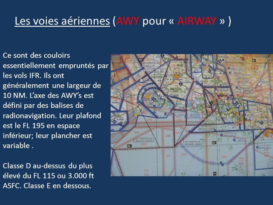 Les voies aériennes (AWY pour « AIRWAY » )