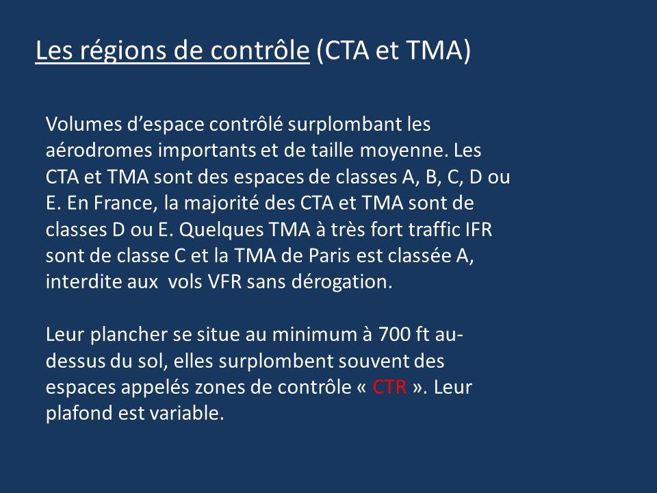 Les régions de contrôle (CTA et TMA)