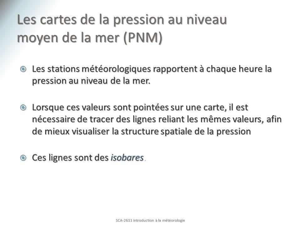 Les cartes de la pression au niveau moyen de la mer (PNM)