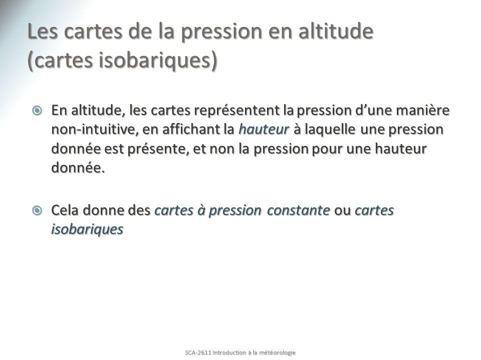 Les cartes de la pression en altitude (cartes isobariques)