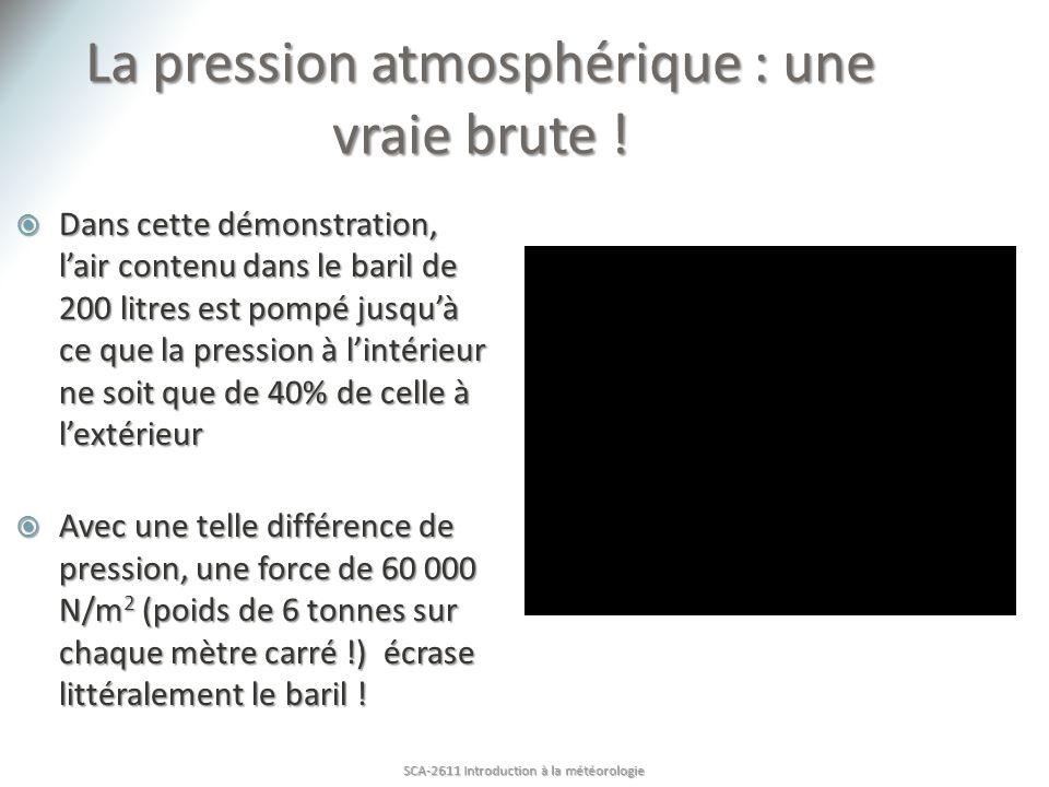 La pression atmosphérique : une vraie brute !