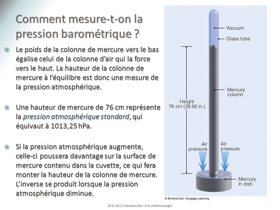 Comment mesure-t-on la pression barométrique