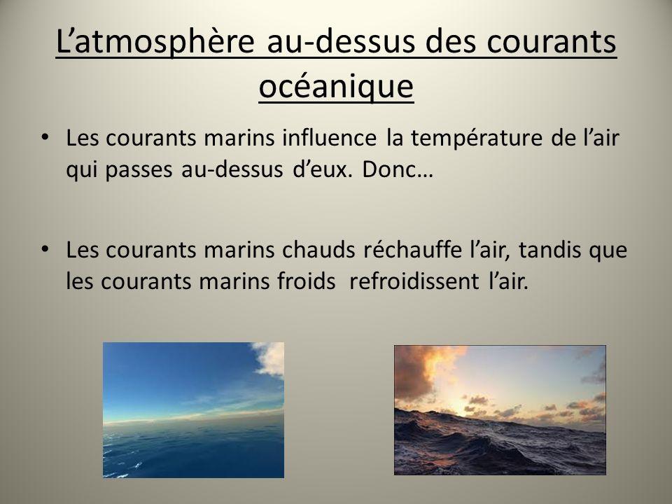 L'atmosphère au-dessus des courants océanique
