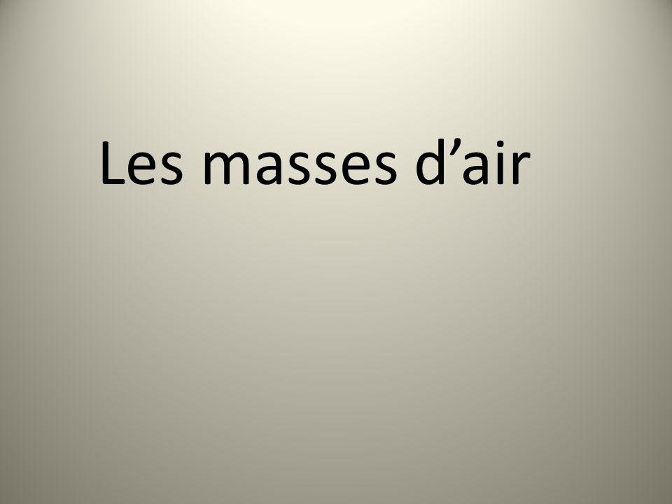 Les masses d'air