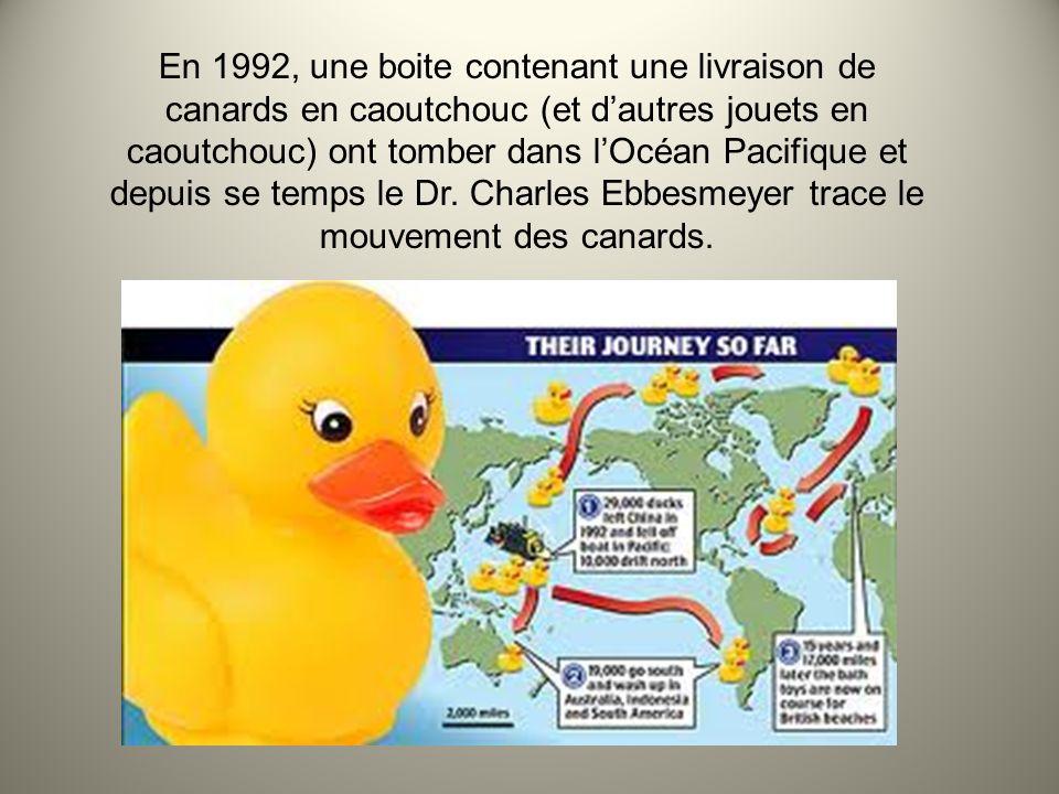 En 1992, une boite contenant une livraison de canards en caoutchouc (et d'autres jouets en caoutchouc) ont tomber dans l'Océan Pacifique et depuis se temps le Dr.