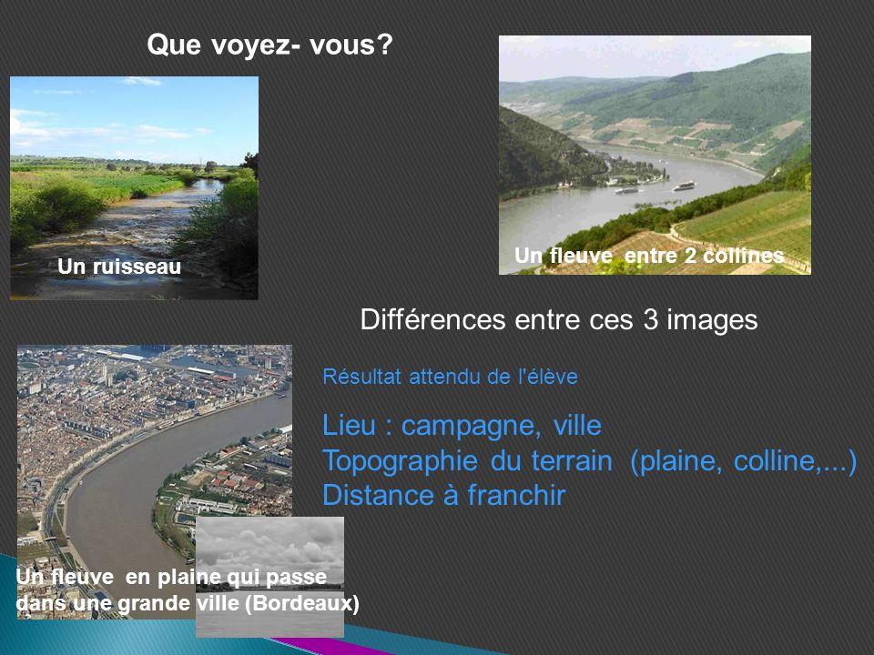 Différences entre ces 3 images