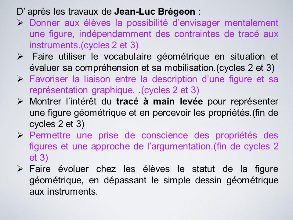 D' après les travaux de Jean-Luc Brégeon :