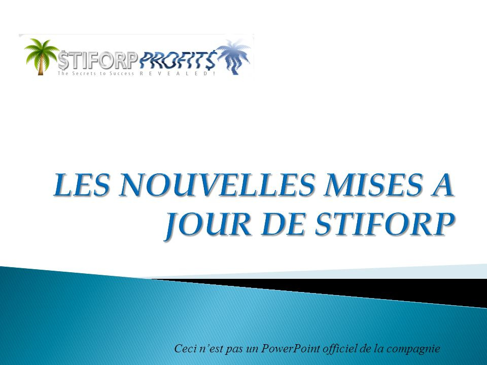 LES NOUVELLES MISES A JOUR DE STIFORP