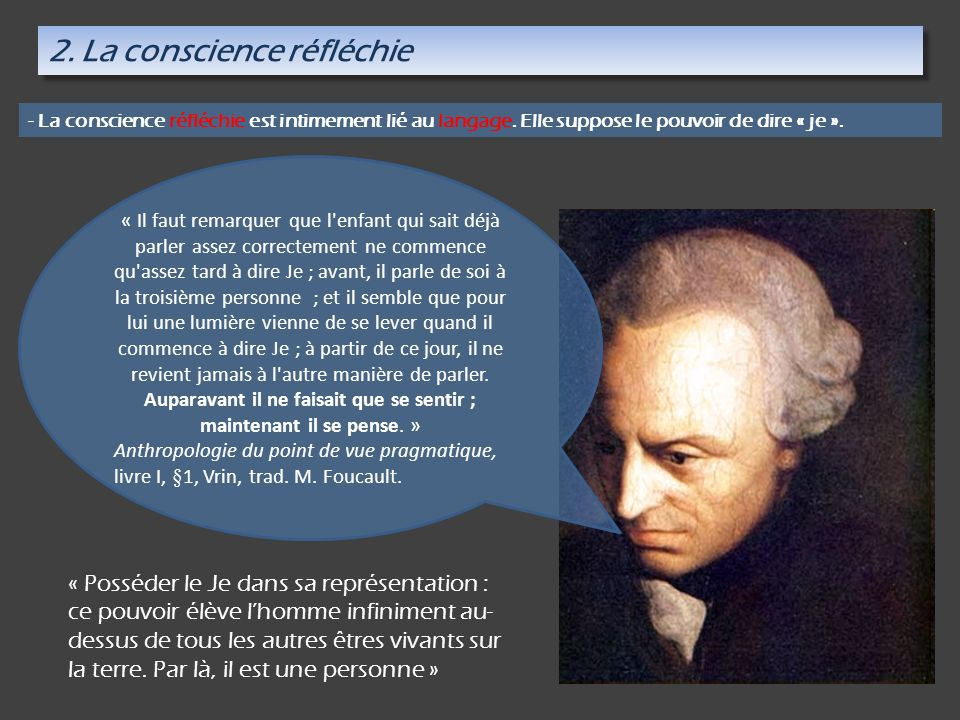 2. La conscience réfléchie