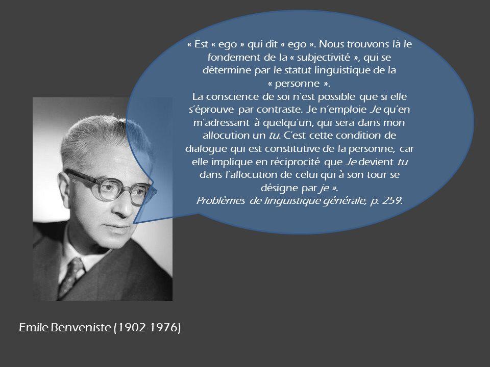 Problèmes de linguistique générale, p. 259.