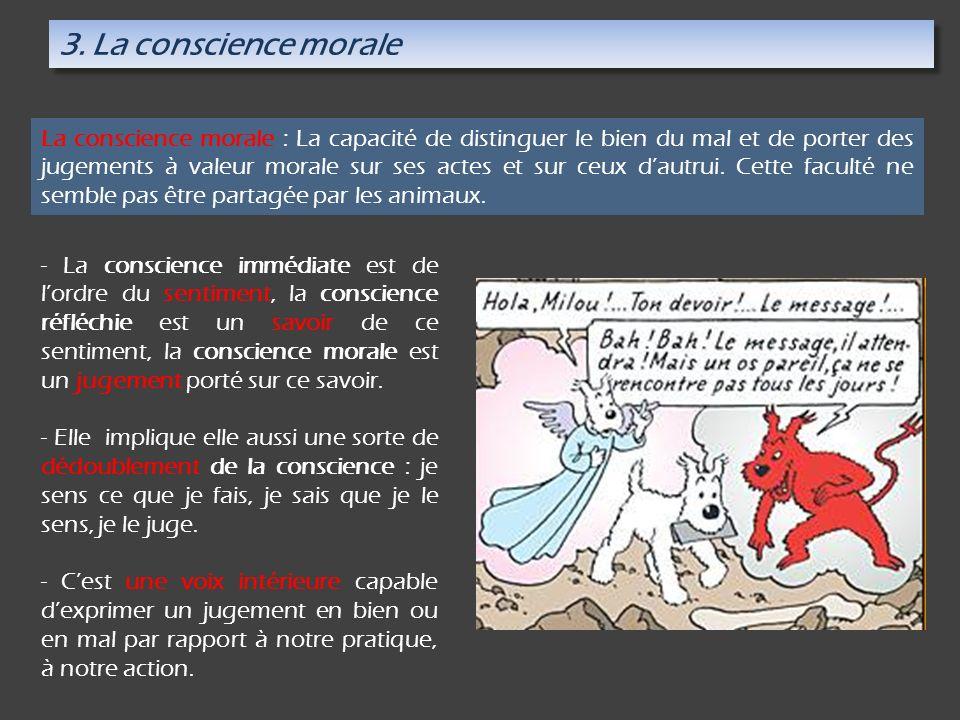 3. La conscience morale