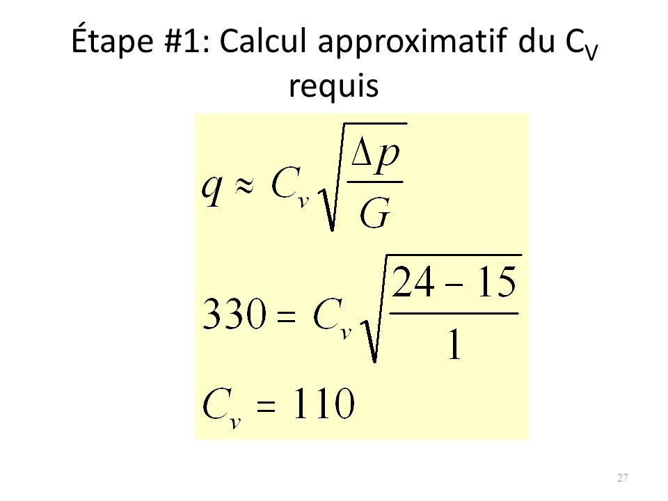 Étape #1: Calcul approximatif du CV requis
