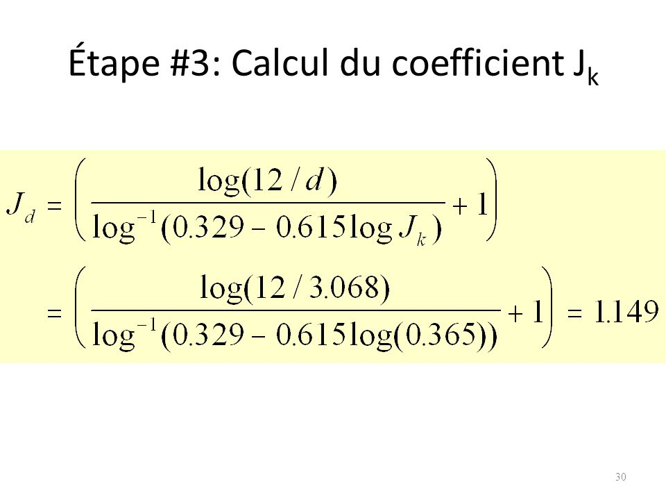 Étape #3: Calcul du coefficient Jk