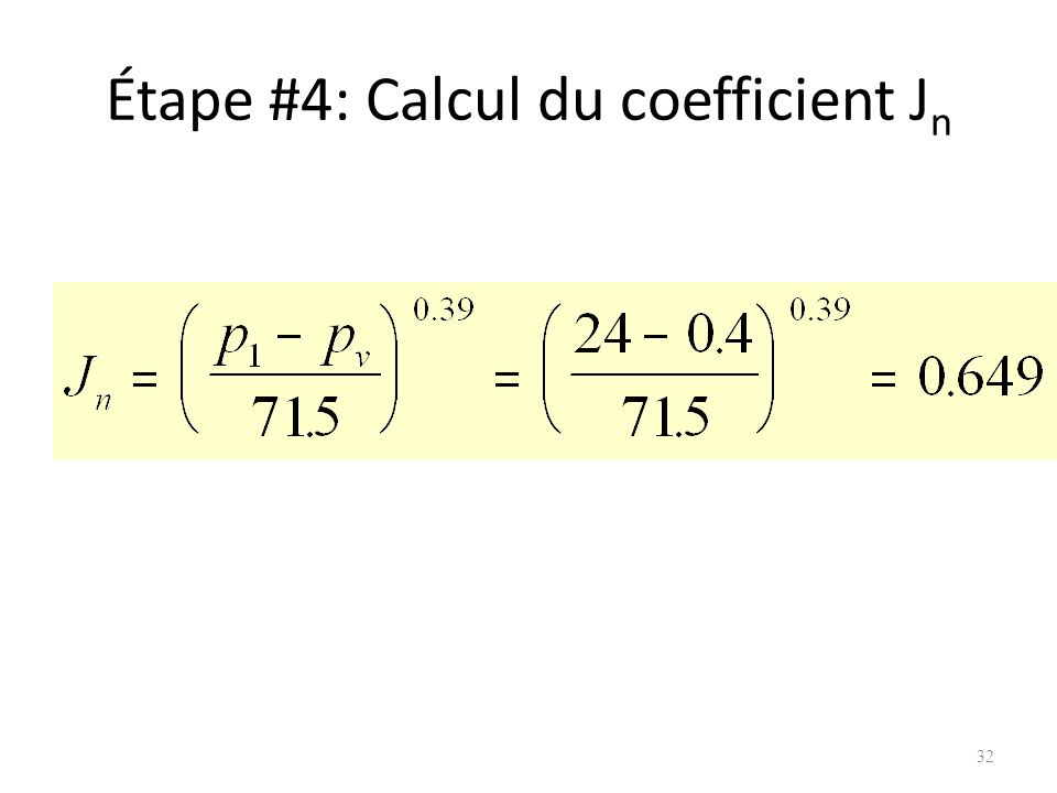 Étape #4: Calcul du coefficient Jn