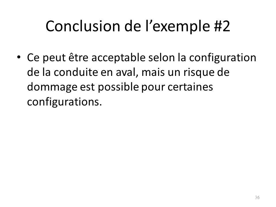 Conclusion de l'exemple #2
