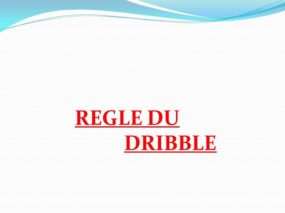 REGLE DU DRIBBLE