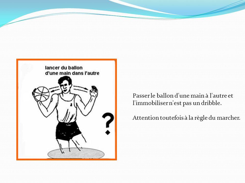 Passer le ballon d une main à l autre et l immobiliser n est pas un dribble.