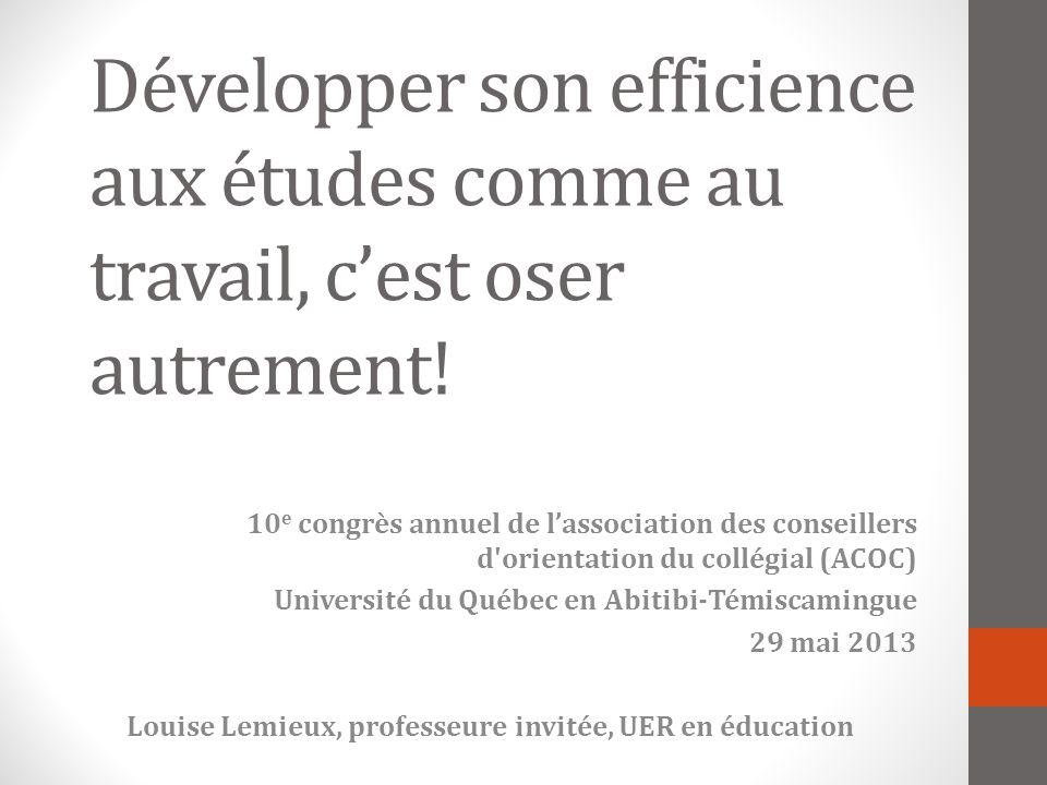 Louise Lemieux, professeure invitée, UER en éducation
