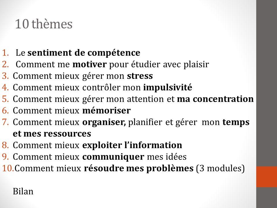 10 thèmes Le sentiment de compétence