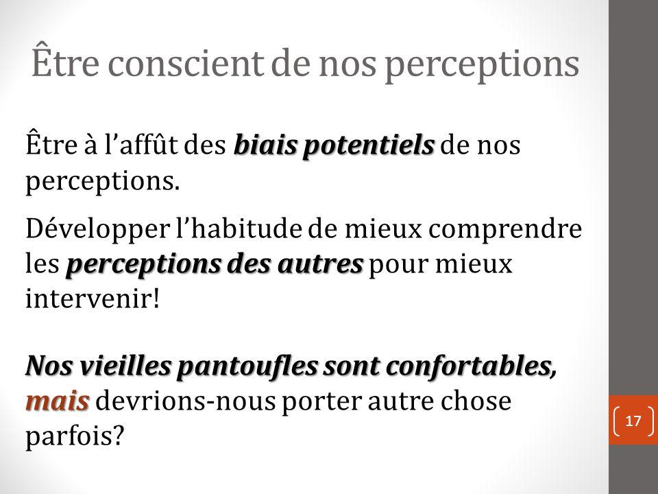 Être conscient de nos perceptions