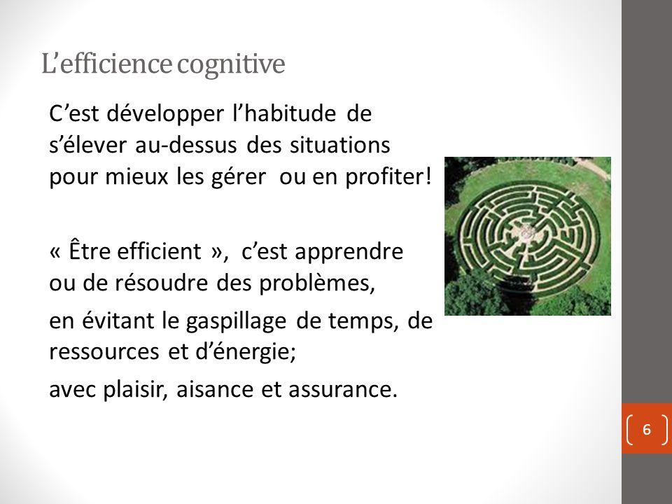 L'efficience cognitive