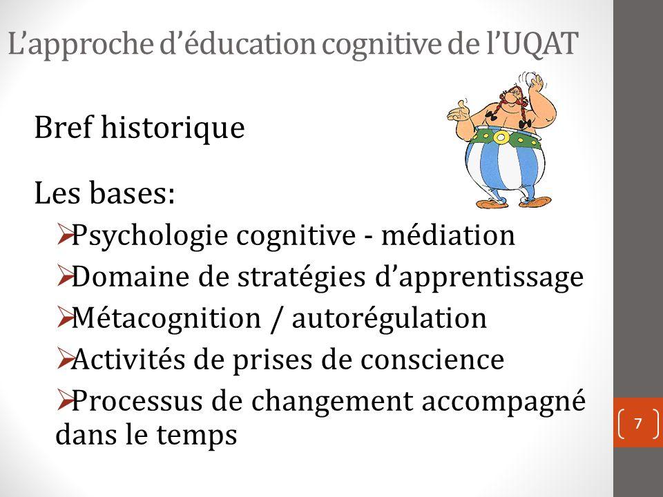 L'approche d'éducation cognitive de l'UQAT