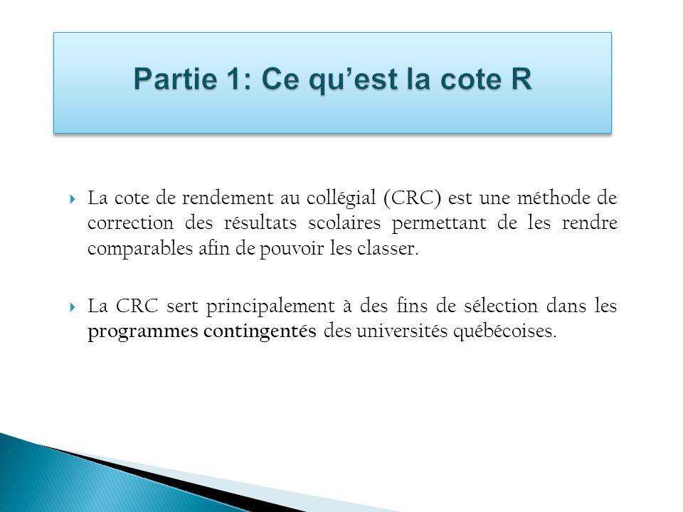 Partie 1: Ce qu'est la cote R