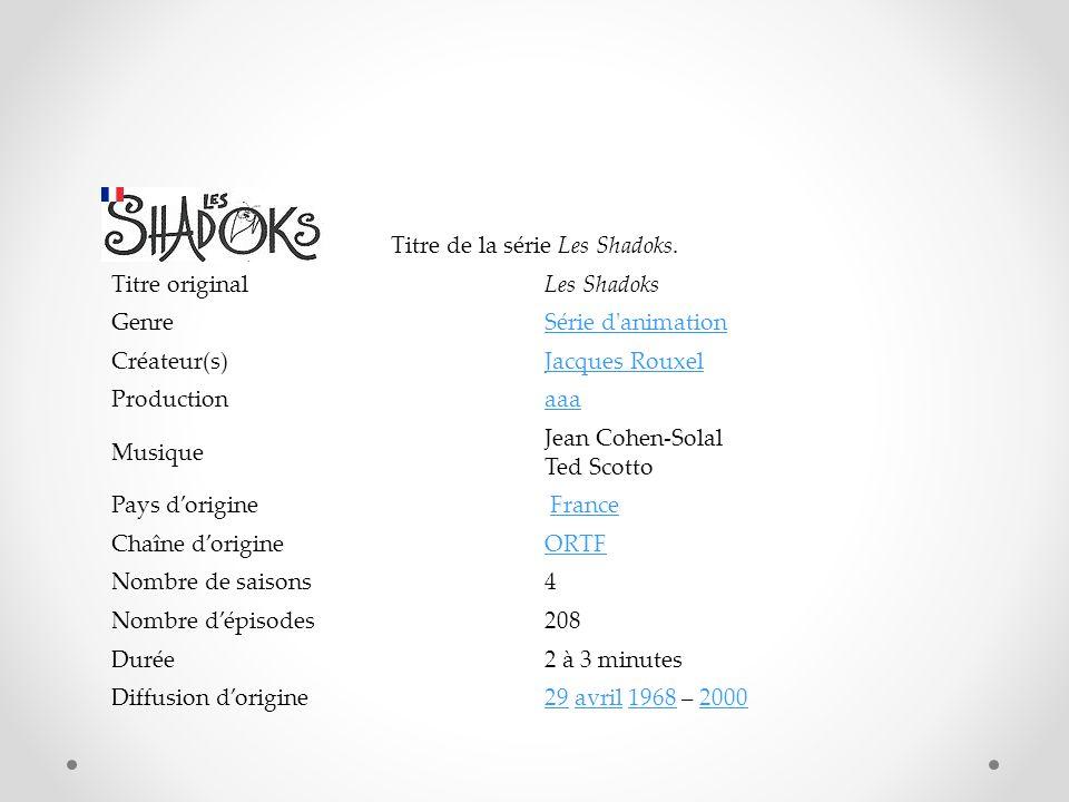Titre de la série Les Shadoks.