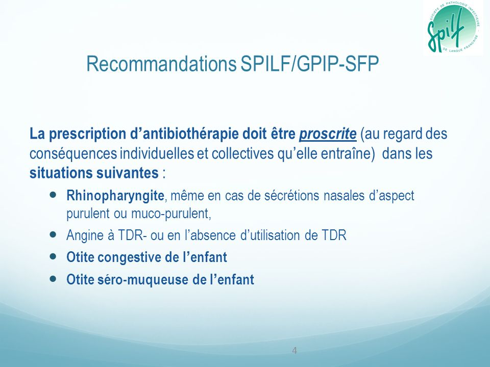 Recommandations SPILF/GPIP-SFP
