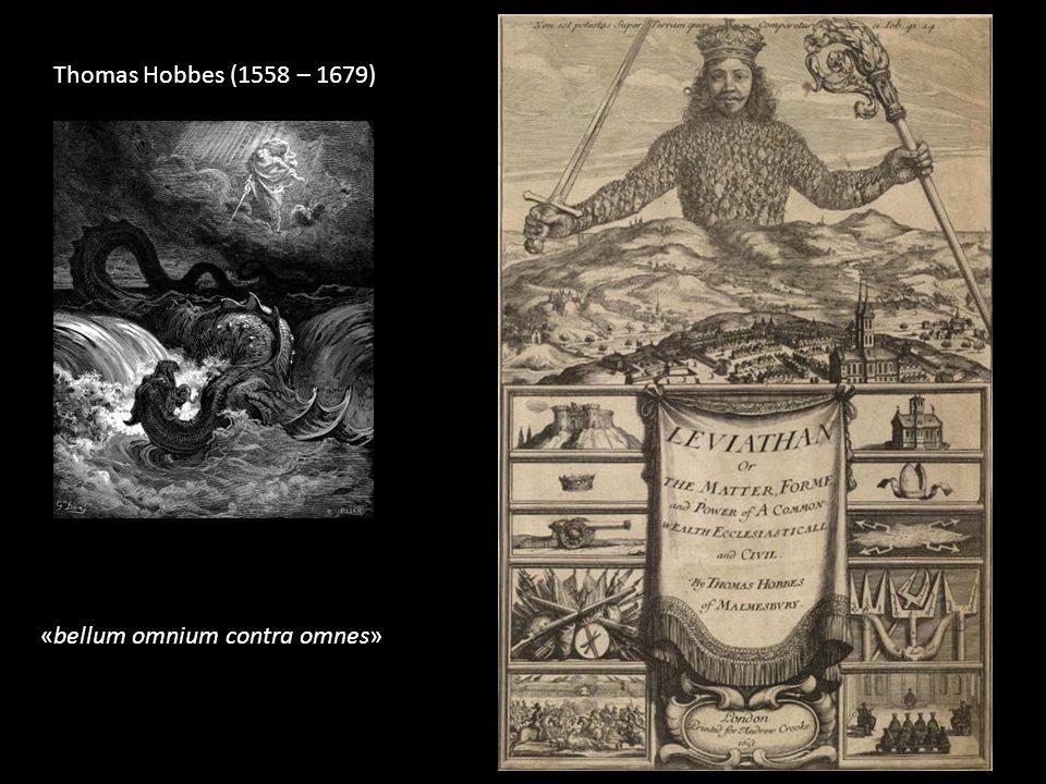 Thomas Hobbes (1558 – 1679) «bellum omnium contra omnes»