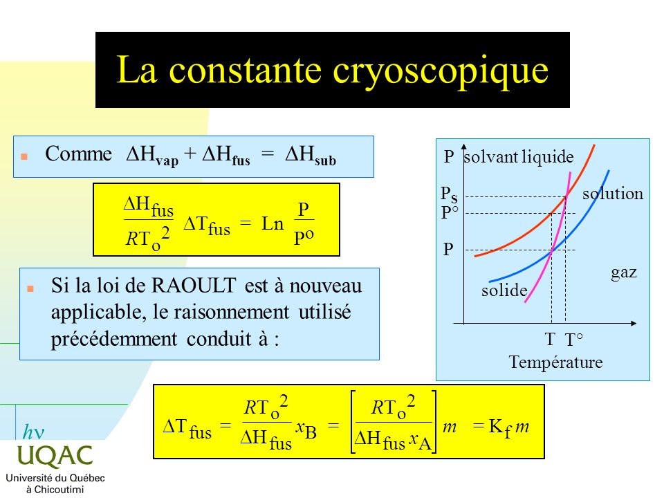 La constante cryoscopique
