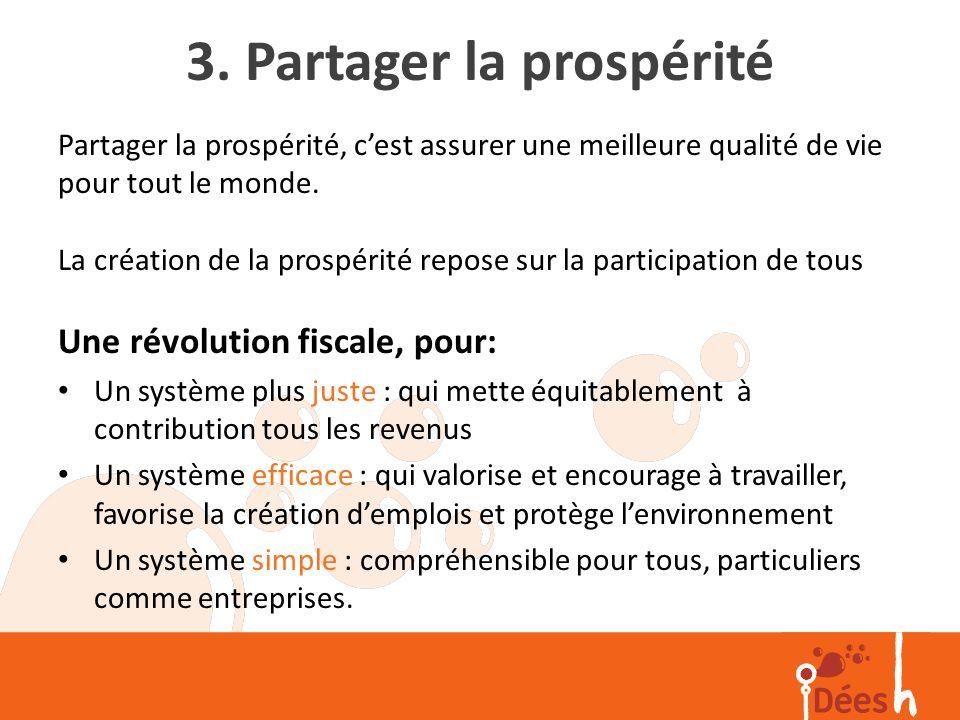 3. Partager la prospérité