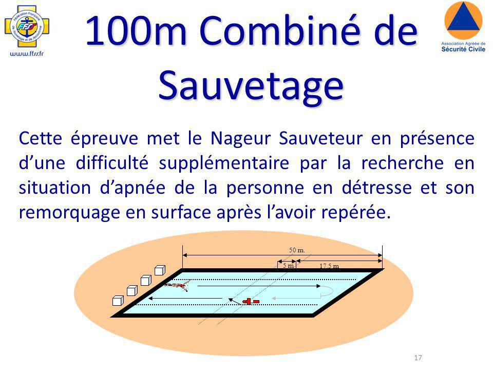 100m Combiné de Sauvetage