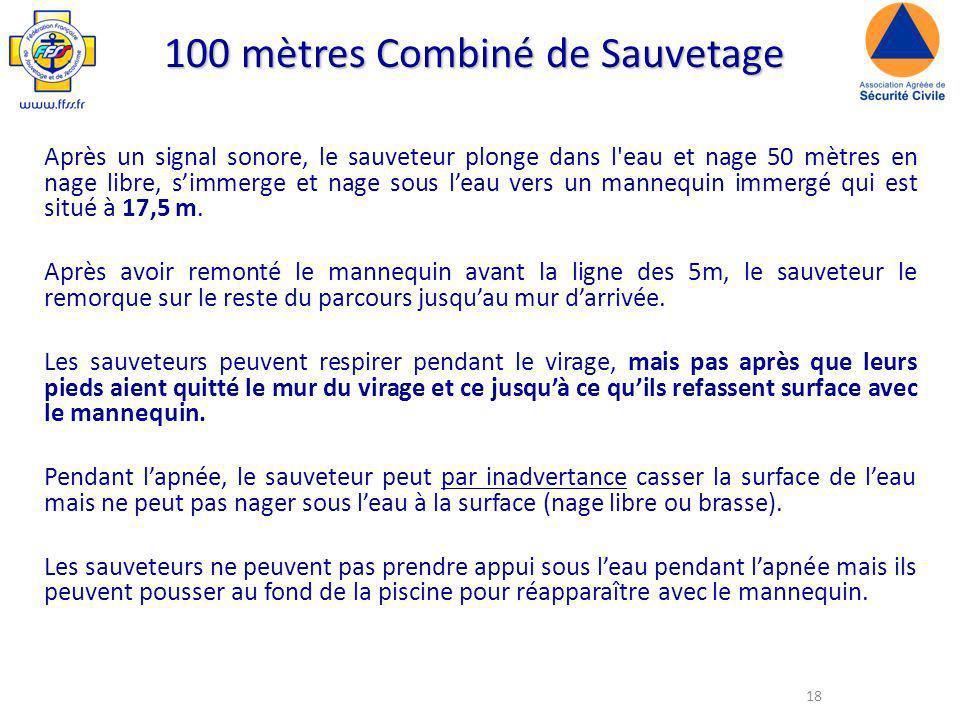 100 mètres Combiné de Sauvetage